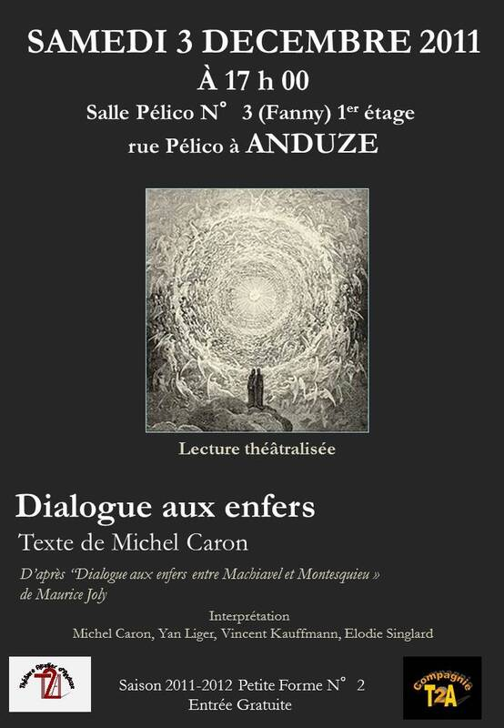 Photo of « DIALOGUE AUX ENFERS » LE SAMEDI 3 DECEMBRE 2011 A ANDUZE