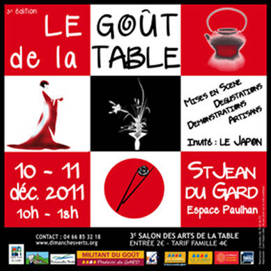3eme salon des arts de la table le go t de la table a - Salon art de la table ...