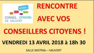 Photo of VAUVERT Débat citoyen le 13 avril