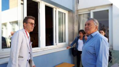Photo of NÎMES Jean-Paul Fournier en visite sur le chantier de l'école Paul Langevin