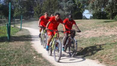 Photo of NÎMES OLYMPIQUE Hsissane, Paquiez, Savanier et Valls remportent le run-bike de la Bastide