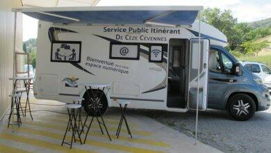 Photo of CÈZE-CÉVENNES Le bus informatique, service public itinérant