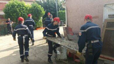 Photo of IMAGES Des adolescents pompiers du Gard au chevet des sinistrés de l'Aude
