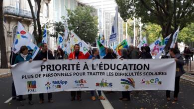Photo of NÎMES Une manifestation contre les suppressions de postes dans le second degré