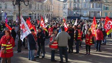 Photo of ALÈS Près de 1 500 manifestants défilent dans le centre-ville