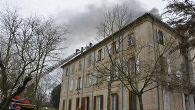 Photo of ROUSSON Violent incendie au mas du chemin de Segoussac