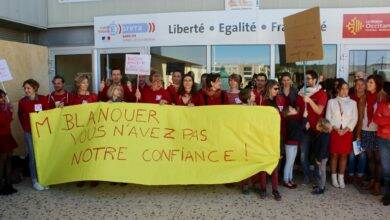 Photo of VILLENEUVE Manifestation contre la réforme du lycée
