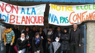 Photo of L'IMAGE DU JOUR Les parents mobilisés contre la loi Blanquer à Saint-Martin-de-Valgalgues