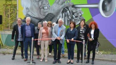 Photo of VAUVERT Inauguration de la seconde fresque murale réalisée par le graffeur Pyrate
