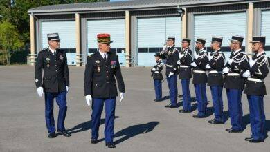 Photo of GARD Le général Lettermann procède à l'inspection annuelle du groupement de gendarmerie