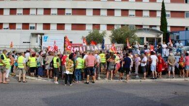 Photo of BAGNOLS Manifestation aux urgences du centre hospitalier