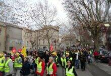 Photo of ALÈS/BAGNOLS Les manifestants ne battent pas en retraite