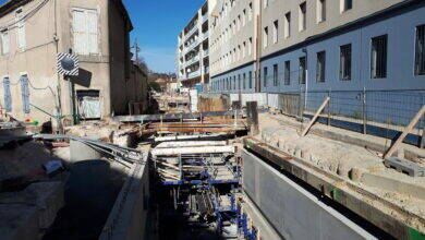 Photo of NÎMES Le chantier du cadereau de la route d'Uzès progresse